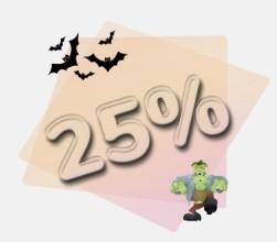 Halloween 25% Special