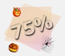 Halloween 75% Bonus Special Offer